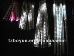 led solar falling icicle lights sets of 10pcs icicle lights