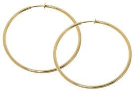 hoop clip on earrings pair of silver color big clip on hoop earrings almost 3 inch 70mm
