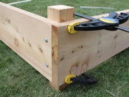 how to build a raised garden box the gardens