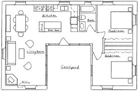 Kitchen House Plans Stunning U Shaped House Plans Contemporary Best Idea Home Design