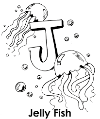 big j for jellyfish coloring pages animal coloring pages of