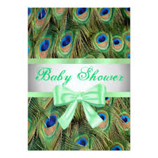 peacock baby shower peacock baby invitations announcements zazzle