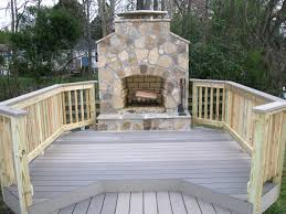 outdoor fireplace archadeck custom decks patios sunrooms and