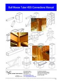 hss connection manual beam structure strength of materials