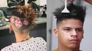 undercut back design men barber shop compilation hairstyle undercut man bun hair