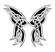celtic butterfly sketch design tattoomagz