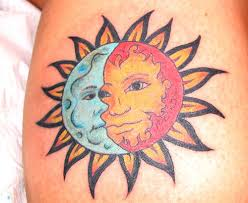 collection of 25 lovely sun and moon tattoos