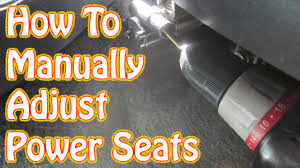 diy how to manually adjust power seats in a gmc chevy vehicle