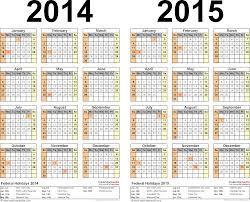 printable calendar year 2015 2014 2015 calendar free printable two year pdf calendars
