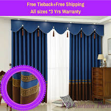 Blue Swag Curtains Blockout Blue Swag Valance Pelmet Bedroom Door Curtain Drapes
