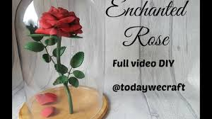 beauty and the beast enchanted roses craft tutorial youtube