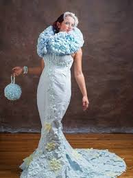 paper wedding dress dallas creates award winning wedding gown from