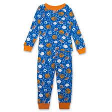 imagine toddler boys sleeve all sports print pajama set