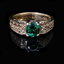 celtic knot ring 14kt chatham emerald celtic knot ring