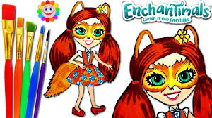 how to draw enchantimals meet felicity fox coloring page for