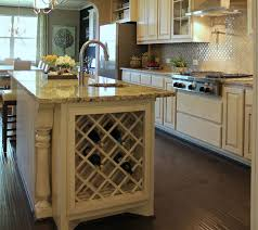 wine rack kitchen island built in lattice wine rack in kitchen island in bone white with