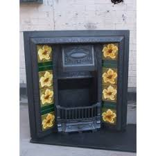 original cast iron victorian to edwardian tiled insert