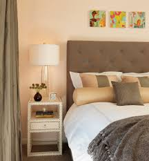 beautiful nightstand lamps in bedroom contemporary with narrow