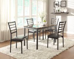 homelegance flannery 5 piece dining room set w faux marble table