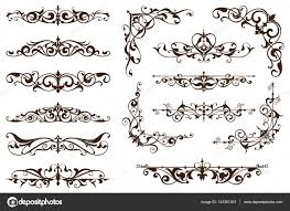 deco design elements of vintage ornaments and borders corners