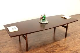 Vintage Conference Table Sold Jens Risom Signed 1960 Vintage Midcentury Modern 9 Dining