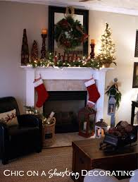 chic on a shoestring decorating rustic christmas mantel