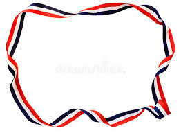 white blue ribbon white blue ribbon stock image image of border 19603921