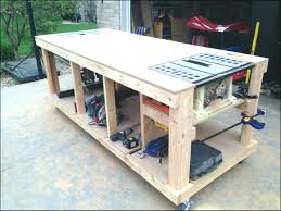 wood top work table bench garage tool bench workbench storage system top work with