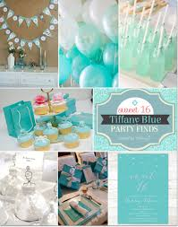 sweet 16 party themes blue themed sweet 16 party ideas