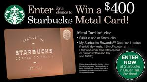 starbuck gold card win a golden coffee card olin blogolin