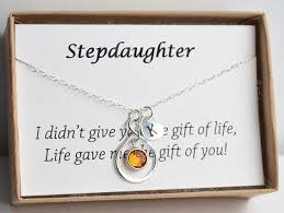 wedding gift personalized personalized stepdaughter gift necklace birthday gift for