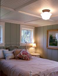 ceiling exciting beadboard ceiling with table lamp and white