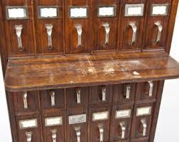 Antique Wood File Cabinet Wooden File Cabinet Etsy