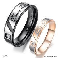 cincin cople jual titanium ring cincin size 7 f 7 m gs299 gold