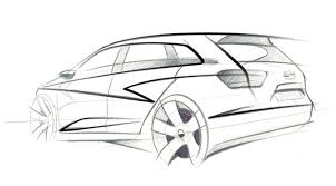 seat ibiza st concept 2009 first design sketch by car magazine