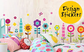 amazon com flower garden wall decals stickers removable floral
