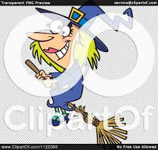 halloween flying witch background cartoon of a happy halloween good witch flying on a broom