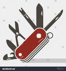 red swiss army knife flat icon stock vector 464670770 shutterstock