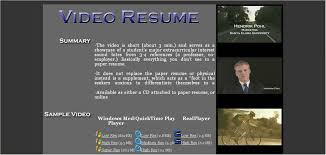 How To Make A Video Resume Script Video Resume Samples Video Editor Resume Samples Visualcv Resume