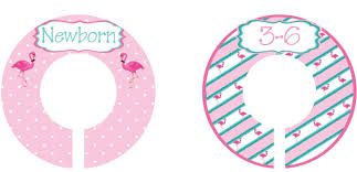 Baby Dividers Nursery Closet Dividers For Baby Pink Flamingos Size Newborn