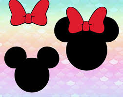 minnie mouse monogram minnie bow png etsy