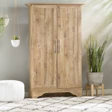 Wooden Storage Closet With Doors Wood Office Storage Cabinets You Ll Wayfair