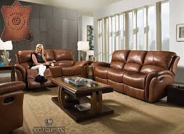 Italian Leather Recliner Sofa Italian Leather Softie Chestnut Reclining Sofa And Loveseat My