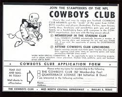 dallas cowboys fan club early 1960s dallas cowboys fan club sports pinterest cowboys