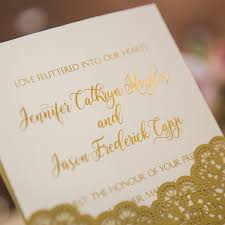 wedding invitations gold luxury gold foil sted lace laser cut wedding invites ewts022 as