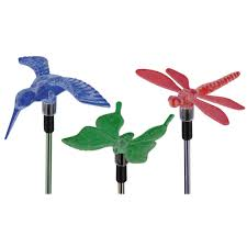 Bird Solar Lights by Accessories Epic Picture Of 3 Pc Colorful Bird Butterfly