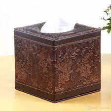 Tissue Holder 2017 Home Decor Office Leather Tissue Box Square Roll Tissue Box