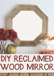how to build a diy reclaimed pallet wood octagon mirror