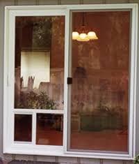 closet glass door sliding door sliding glass door with built in dog door door