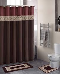 awesome bathroom rugs sets ideas for high cleanliness aspect amusing bathroom rug sets interior decor ideas feats plain dark brown shower curtain and white closet